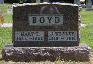 Photos Boyd Family Graves...