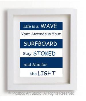 Boy room art, inspirational quotes for boys, surfer boy, inspirational ...