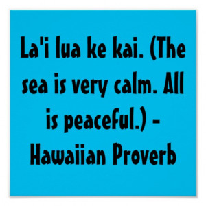Hawaiian Sayings Print