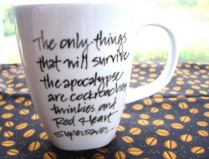 ... Stephanie Pearl-McPhee : Ceramic Mug with Calligraphy for Knitters