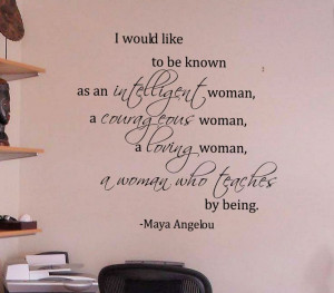 Woman Maya Angelou Quote Wall Decals - Trading Phrases