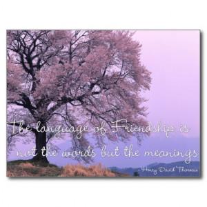 Friendship Quote 1 - Cherry Blossom Tree Postcards
