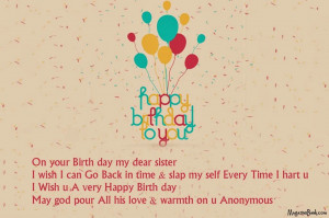 wishes for sister share on facebook sister birthday quotes for ...
