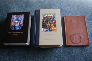 The Complete JLA by Grant Morrison (Quarter bound in blue & beige ...