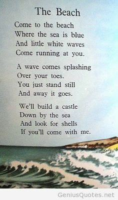 beach poem More