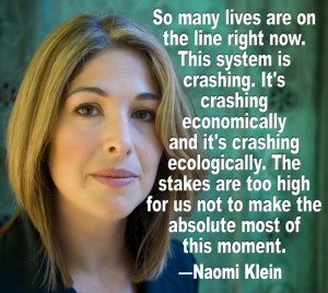 Quote from Naomi Klein