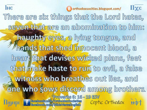 ... hates seven that are an abomination to him haughty eyes a lying tongue