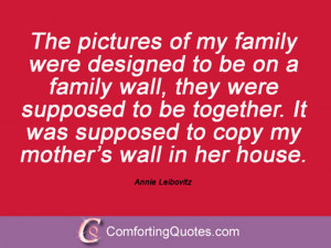 Sayings From Annie Leibovitz