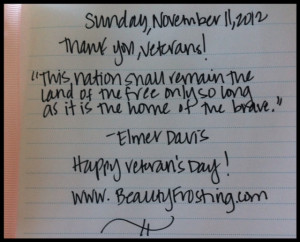Quote Book: Sunday, 11/11/12 – Thank you, Veterans!
