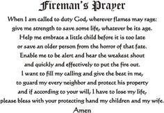 FIREMAN'S PRAYER #FIREMAN #PRAYER