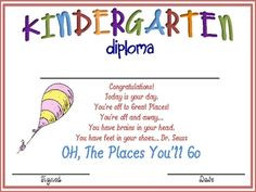 Graduation diploma- the link isn't working, but there are several cute ...