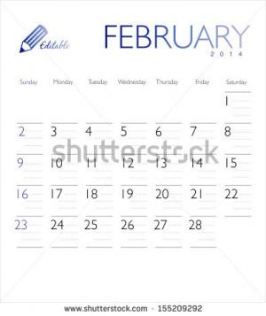 Monthly Calendar Stock...