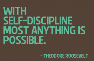 If we don't discipline ourselves, the world will do it for us ...
