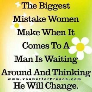 The biggest mistake women make