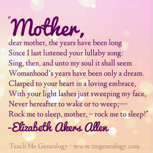 Mother's Day Poem - Rock Me To S...