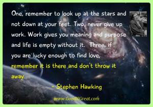 work quotes purpose quotes empty quotes stephen hawking quotes