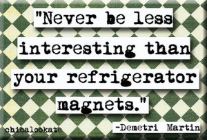 Demetri Martin Magnet Quote Refrigerator Magnet or by chicalookate, $4 ...
