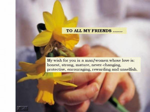 To All My Friends