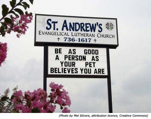 ... are! Funny church sign from St. Andrew's Evangelical Lutheran Church