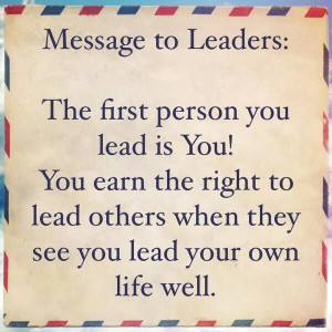 true leaders lead by example