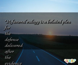 Funeral Eulogy Quotes Image