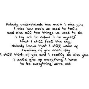 How Much I Miss You, I Miss How Much We Need To Talk, And Miss All ...
