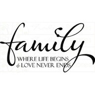 Family Where Life Begins & Love Never End ~ Family Quote