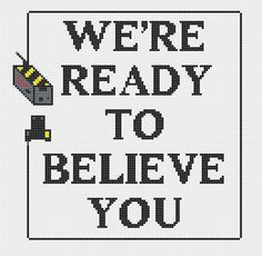 Ghostbusters ad quote 'We're ready to believe by CapesAndCrafts, £2 ...