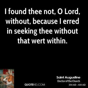 St Augustine the Saints Quotes