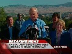 Breaking: Senator Larry Craig Reconsidering His Resignation From ...