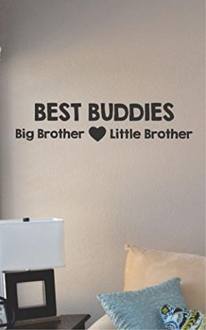 Best Buddies Big Brother Little Brother Vinyl Wall Art Decal Sticker