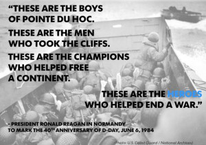 Reagan's speech marking the 40th anniversary of D-Day was among the ...