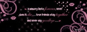 Never Say Goodbye Facebook Cover