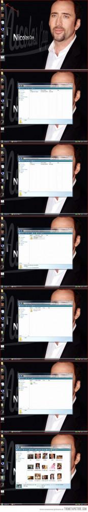 Funny photos funny Nicolas Cage prank computer