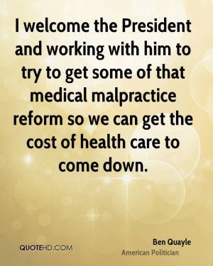 Ben Quayle Medical Quotes