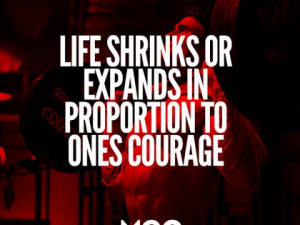 Life shrinks and expands…