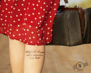 Quote Calf Tattoos Wander Tattoo Quote on Calf