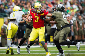 Spring Game 2014 - OREGON HEAD COACH MARK HELFRICH DISCUSSES SPRING ...