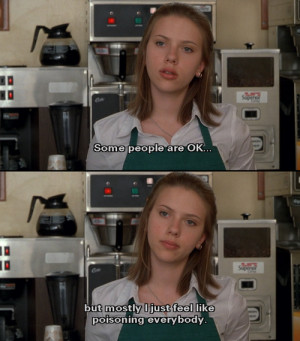 coffee shop, funny, ghost world, lol, movies, quotes, scarlet ...