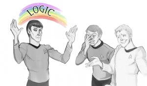 ... trek logic spock leonard mccoy james kirk use your logic logic rainbow