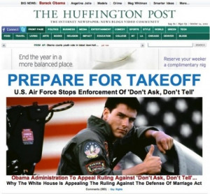 What a strange way for the Huffington Post to illustrate its story on ...