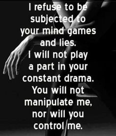 thank you for all the lies and manipulation, I know YOU ARE DOING IT ...