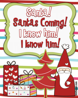 Elf knows Santa well! Christmas movie quotes. Several free printables!