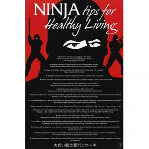 24x36 ninja tips list for healthy living art poster print a ninja ...