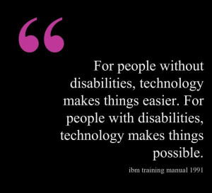 technology makes things easier for people with disabilities technology ...
