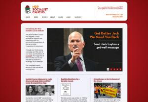 NDP Socialist Caucus Releases New Website