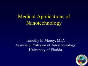 Medical Applications of Nanotechnology by sammyc2007