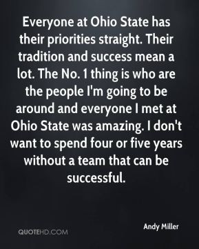 Andy Miller - Everyone at Ohio State has their priorities straight ...