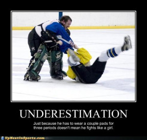 Funny Hockey Goalie Pictures A couple of goalie funnies