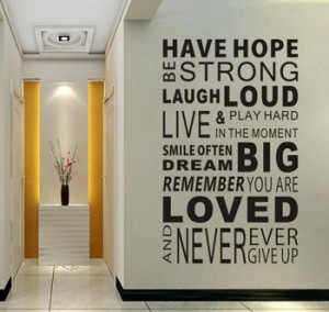 ... Rules Home Decor Quotes Office Decoration Mural Wall Quote 100cm*60cm